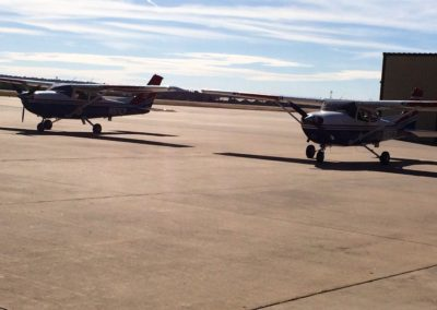 2 of the 4 CAP aircraft on the ramp